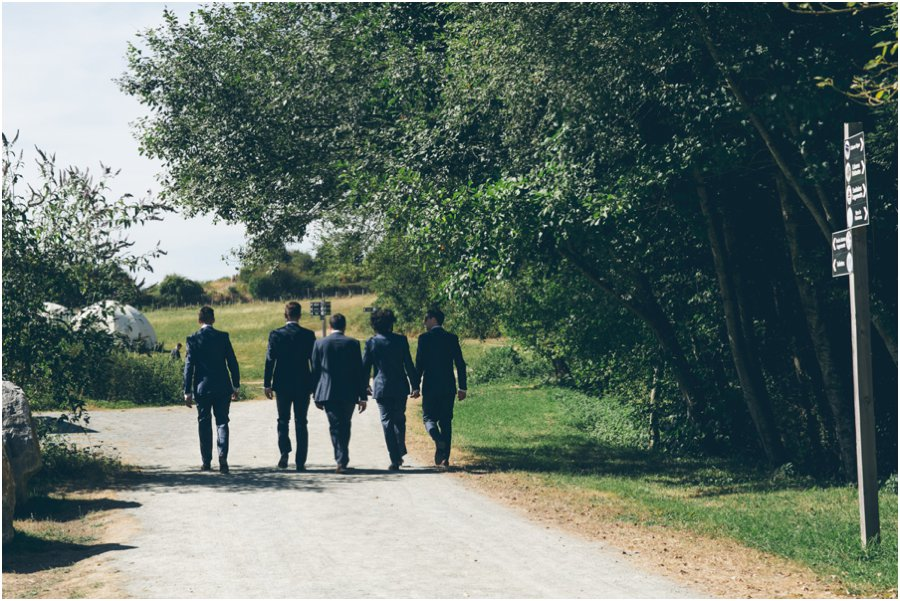 Grooms men walking Destination wedding France photography echologia