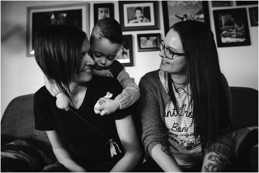 LGBT Family having fun_ LJM Photography Ladladybaby family portraits Documentary photographer